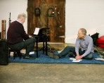 Mark Robson and Hunter Ochs performing at Florida International Toy Piano Festival January 10 2016 at Mixed Field Arts Ybor