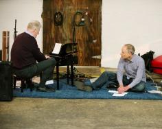 Mark Robson and Hunter Ochs performing at Florida International Toy Piano Festival January 10 2016 at Mixed Field Arts Ybor