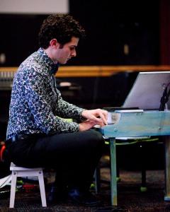 Robert Fleitz performing at Florida International Toy Piano Festival January 10 2016 at St. Petersburg Main Library