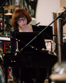 Amy O'Dell performing at Florida International Toy Piano Festival January 10 2016 at Mixed Field Arts Ybor